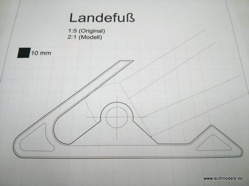CAD-Zeichnung vom Landefuß
